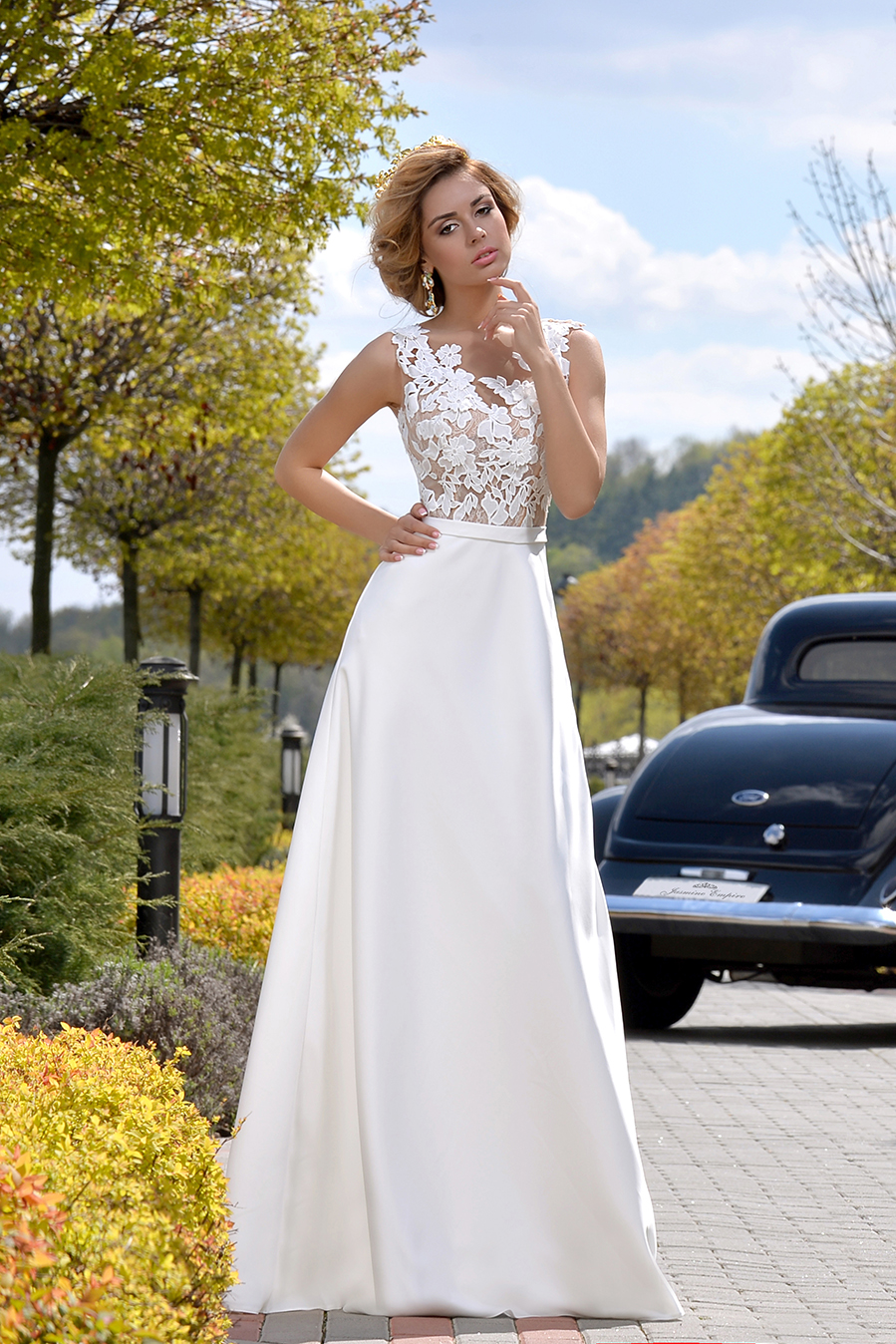 а силуэт свадебное платье