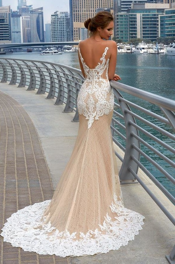 русалка свадебное платье