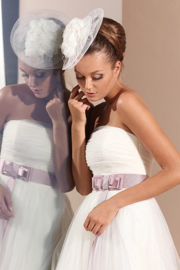 свадебное платье с лентой